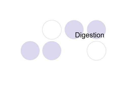 Digestion. Salivary glands secrete saliva, which contains an enzyme that breaks down starch Food is moistened to help chewing Mastication (chewing) –