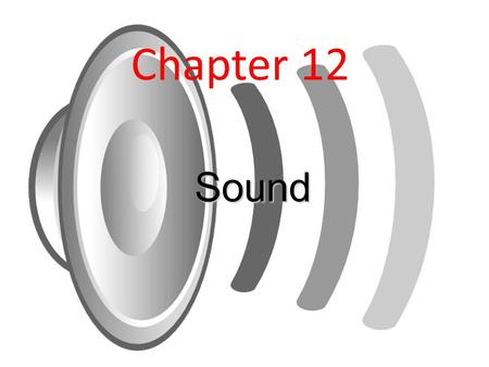Chapter 12 Sound. What is sound? Sound is a compressional wave which travels through the air through a series of compressions and rarefactions.