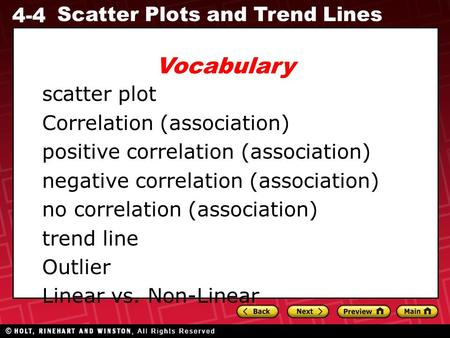 Vocabulary scatter plot Correlation (association)