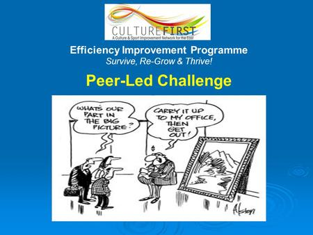 Efficiency Improvement Programme Survive, Re-Grow & Thrive! Peer-Led Challenge.