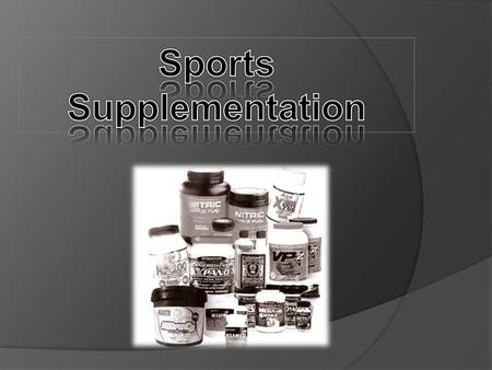  Pre-workout supplements are designed to give you nutrients to enhance your workout!  Increased blood flow, better mental focus, enhanced muscle pumps.
