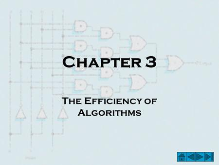 The Efficiency of Algorithms