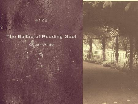 the ballad of reading gaol analysis