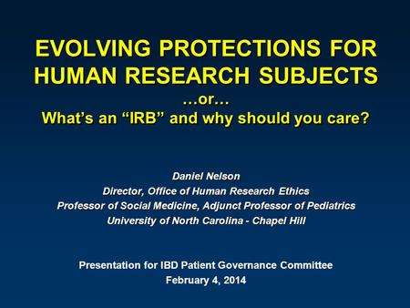 ethical issues of human test subjects The conduct of biomedical research involving the participation of human beings implicates a variety of ethical concerns pertaining to such values as dignity, bodily integrity, autonomy, and privacy these ethical concerns have been translated into a complex regulatory apparatus in the usa.