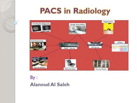 By : Alanoud Al Saleh. The practice of radiology is a complex system that includes generation of images with multiple modalities, image display, image.