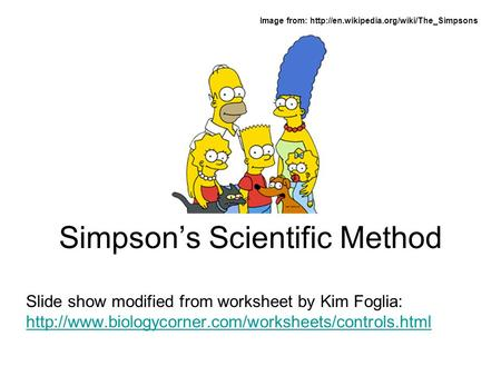 Simpson's Scientific Method