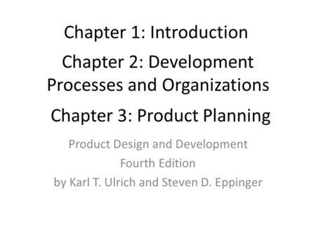 Product Design L2 Development Processes And Organizations Dr Husam Arman Ppt Download