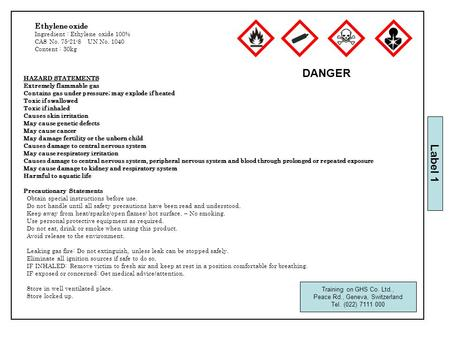 HAZARD STATEMENTS Extremely flammable gas Contains gas under pressure; may explode if heated Toxic if swallowed Toxic if inhaled Causes skin irritation.