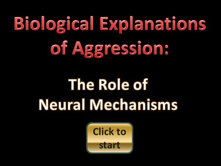 Click to start Neural mechanisms refer to the role of neurotransmitters The sending neuron secretes its biochemical into the synaptic gap biochemical.