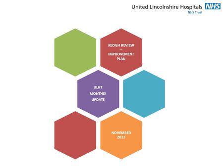 KEOGH REVIEW – IMPROVEMENT PLAN ULHT MONTHLY UPDATE NOVEMBER 2013.
