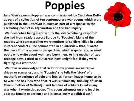 poppies in october sylvia plath meaning
