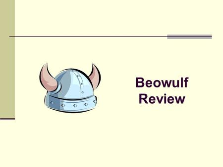 Beowulf Review.