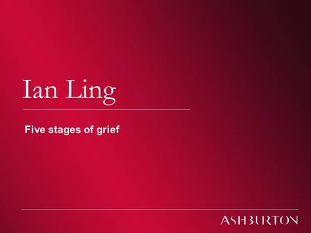 Climate Change – South African Conferences 2009 Climate change Ian Ling Five stages of grief.
