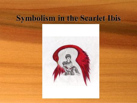 Symbolism in the Scarlet Ibis. Literary Analysis # 5  It's nice to be proud of the people we care about, but pride can be harmful to them if we push.