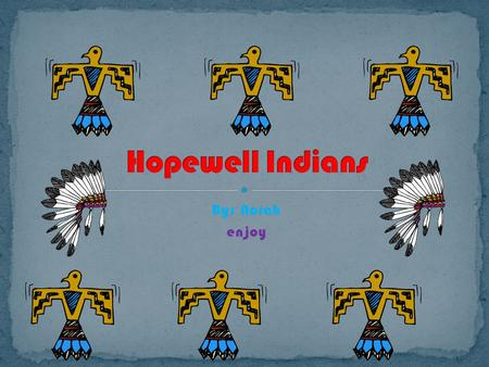 By: Norah enjoy. The Hopewell Indians lived in different groups. Some lived in the L.P. witch stands for lower peninsula. The Hopewell Indians in there.