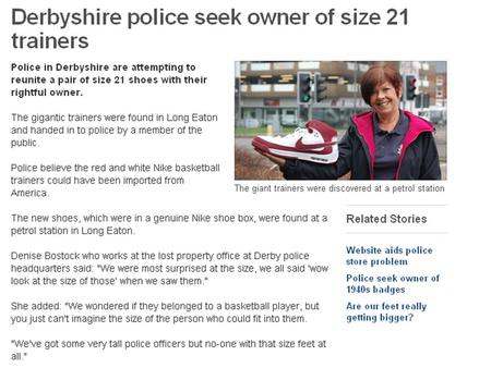 From  How long, in centimetres, do you think a size 21 shoe will be? Why?