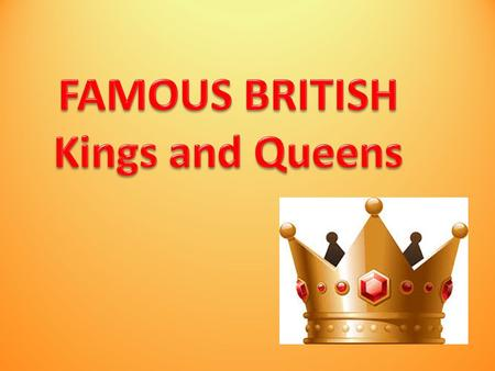 Queen Elizabeth II is the 38th monarch of England. Her family goes back more than 1,000 years! It's easy to forgot all the kings and queens of England.