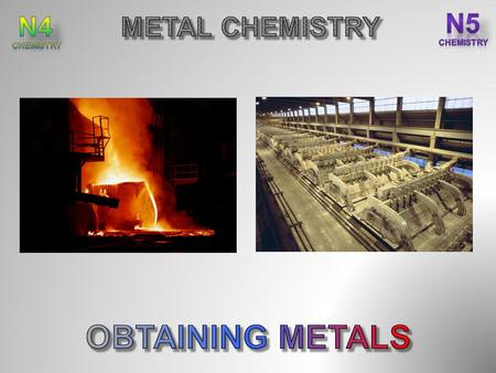 After completing this topic you should be able to : State ores are naturally occurring compounds of metals. State the less reactive metals, including.