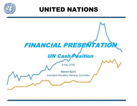 UNITED NATIONS FINANCIAL PRESENTATION UN Cash Position 9 May 2008 Warren Sach Assistant-Secretary-General, Controller.