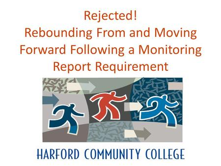 Rejected! Rebounding From and Moving Forward Following a Monitoring Report Requirement.