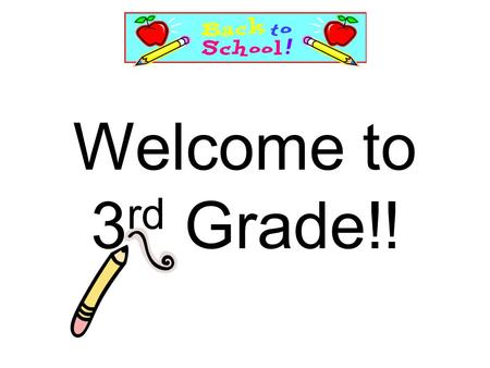 Welcome to 3 rd Grade!!. Parking lot procedures Mornings & Afternoons Children load and unload from the curbs and at the crosswalks only. The West (back)