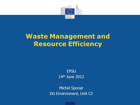 Waste Management and Resource Efficiency