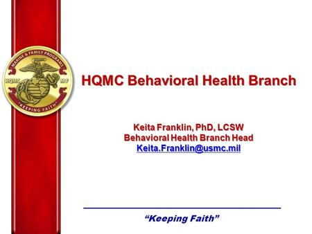 HQMC Behavioral Health Branch