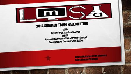 2014 Summer Town hall meeting
