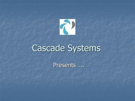 Cascade Systems Presents …. Crane Safe Load Indicator.