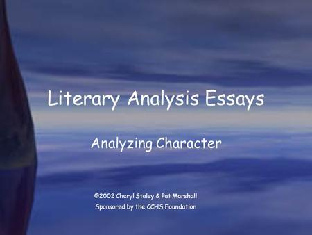 how to write a literary essay body paragraph