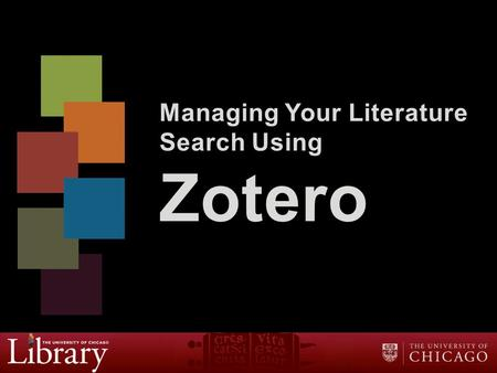 Managing Your Literature Search Using Zotero. Outline  Overview of Zotero  Set up Online Sync  Save citations  Use Zotero with Microsoft Word  Review.