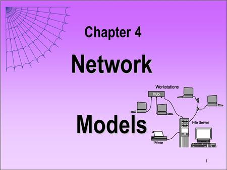 1 Network Models Chapter 4. 2 4.1 Introduction A network problem is one that can be represented by... Nodes Arcs 8 9 10 7 6 Function on Arcs.