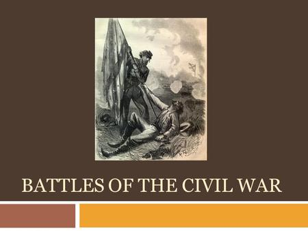 BATTLES OF THE CIVIL WAR. Battle of Fort Sumter  1 st official battle  Confederates starved out Union  Lincoln responded with supplies.