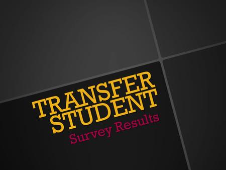 TRANSFER STUDENT Survey Results. Number of Invitees: 438 Invitees that responded: 137 Invitee Response rate: 31% Average of no answers 150 Transfer Results.