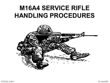 M16A4 SERVICE RIFLE HANDLING PROCEDURES ICS0102, Chart 1 20 July 2005.