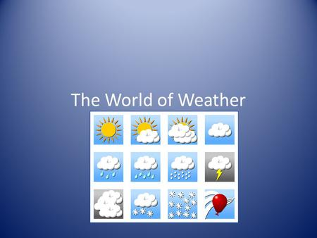 The World of Weather. Introduction to the Earth's Atmosphere The atmosphere: Acts as a radiation shield by reflecting heat and light Causes our weather.