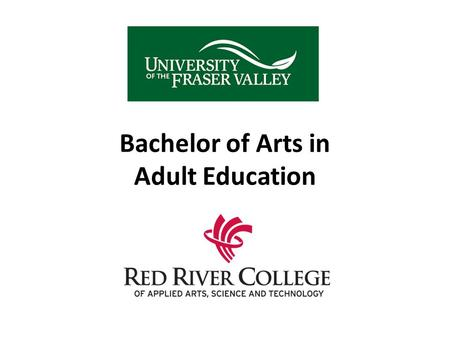 Bachelor of Arts in Adult Education