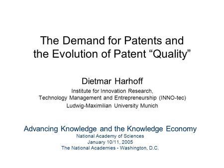 a study of inventors hoisl karin harhoff prof dietmar ph d
