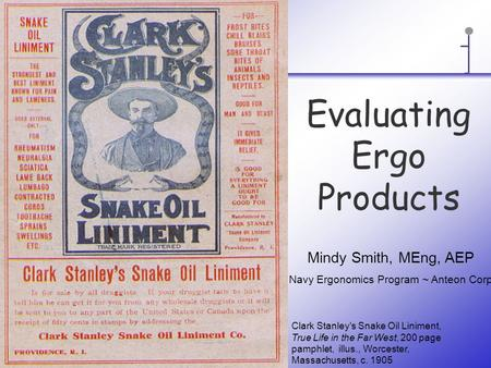 Evaluating Ergo Products Clark Stanley's Snake Oil Liniment, True Life in the Far West, 200 page pamphlet, illus., Worcester, Massachusetts, c. 1905 Mindy.