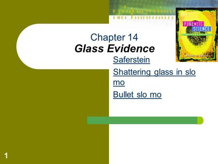 Chapter 14 Glass Evidence
