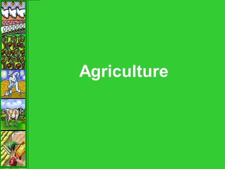Agriculture. Agricultural Hearths – 1 st Agricultural Revolution.