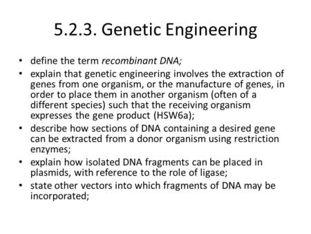 what does the word genetic modification mean