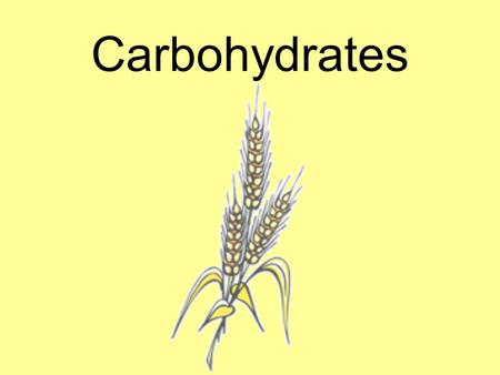 Carbohydrates. 1.We get most of our carbohydrates from the GRAINS group. a.Grains are the edible seeds of certain GRASSES. b.The principle grains are.