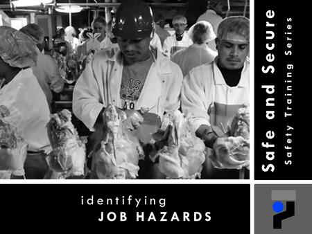 Safe and Secure Safety Training Series identifying JOB HAZARDS.