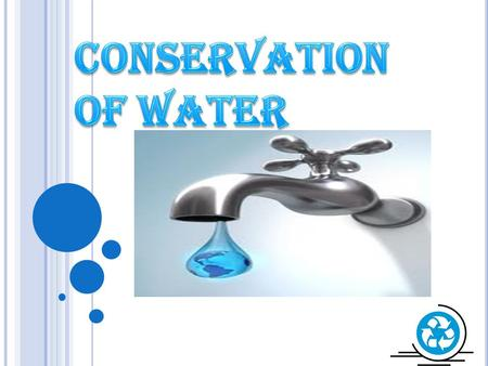 Conservation Of water.