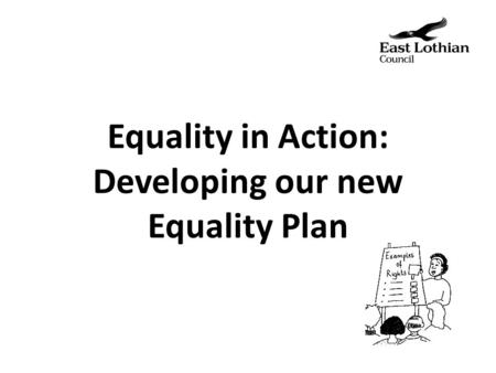 Equality in Action: Developing our new Equality Plan.