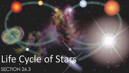 Life Cycle of Stars Section 26.3.