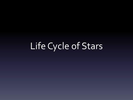 Life Cycle of Stars. Birth of a Star Born from interstellar matter (dust & gases) – Denser portions of the nebula Nebula begins to contract – Due to gravity.