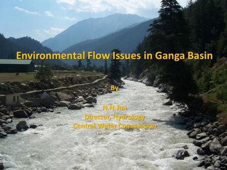 Environmental Flow Issues in Ganga Basin ByN.N.Rai Director, Hydrology Central Water Commission.