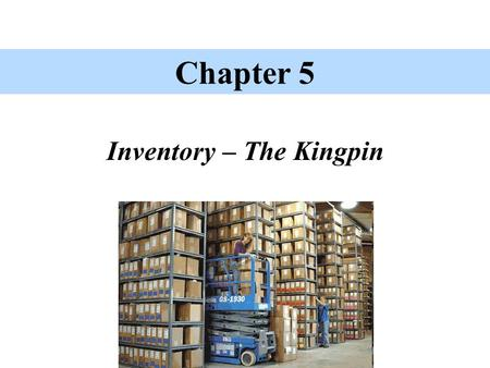 Inventory – The Kingpin Chapter 5. Inventory – The concept Inventory includes 'tangible property' held for sale in the normal course of business (merchandising)